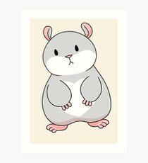 Tam the Tiny Hamster. Art Print