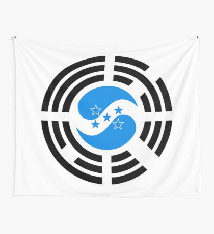 Korean Honduran Multinational Patriot Flag Series Wall Tapestry