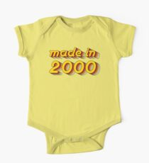 Made in 2000 (Yellow&Red) One Piece - Short Sleeve