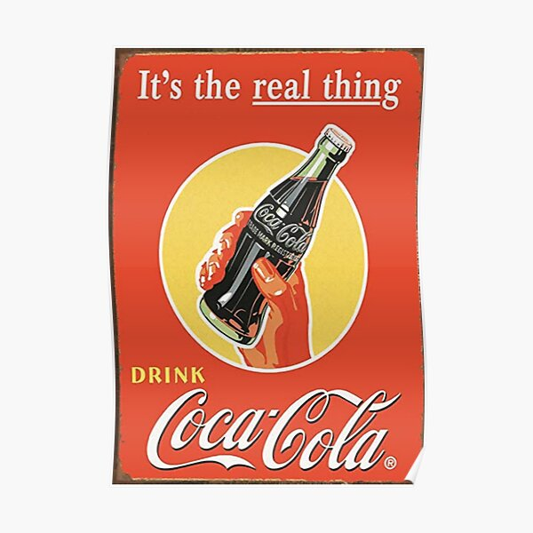 the real coca cola Poster