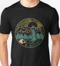 Camping Hiking Natural Love & Hate People Unisex T-Shirt