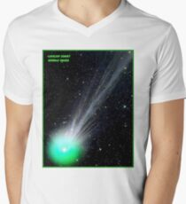 LOVEJOY COMET : Hubble Telescope Image Print Men's V-Neck T-Shirt