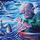 The Fisherman - Acrylic on Canvas by Matt Bissett-Johnson