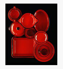 Red Kitchenware Photographic Print