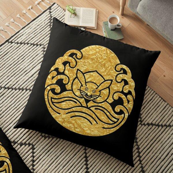 Japanese Mon Nami ni Tsuki ni Usagi  Floor Pillow