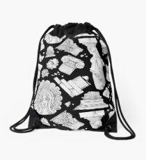 Mochila de cuerdas Elementos arquitectónicos griegos - blanco y negro OSCURO
