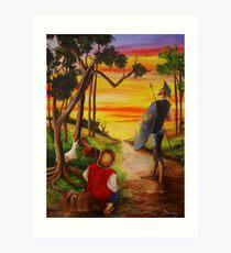 Don Quixote and Sancho Art Print