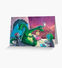 The Knight, The Princess and The Dragon Greeting Card