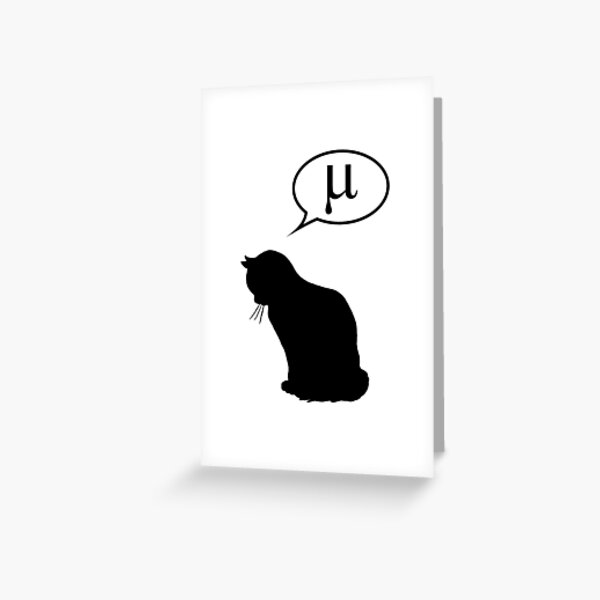 Physics Cat and Friction Coefficient Greeting Card