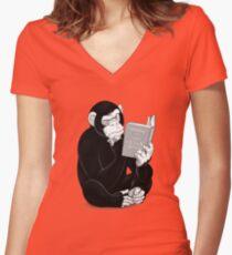 Origin of Species Tailliertes T-Shirt mit V-Ausschnitt