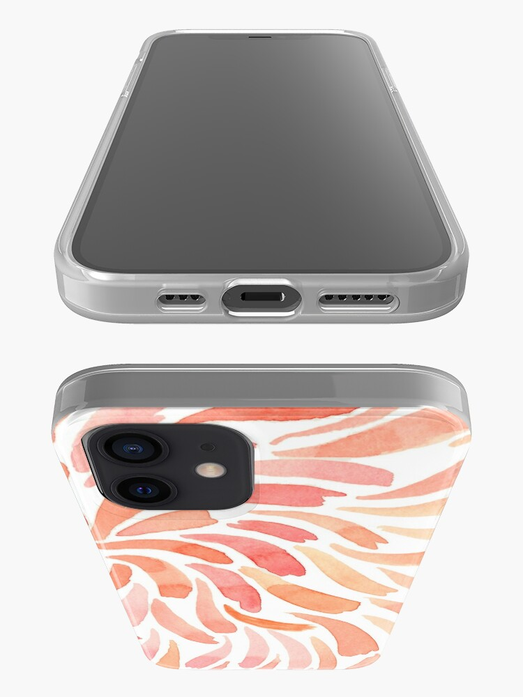 Alternate view of Hand Painted Watercolor - Living Coral Swirl iPhone Case & Cover