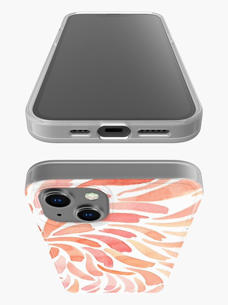 Alternate view of Hand Painted Watercolor - Living Coral Swirl iPhone Case