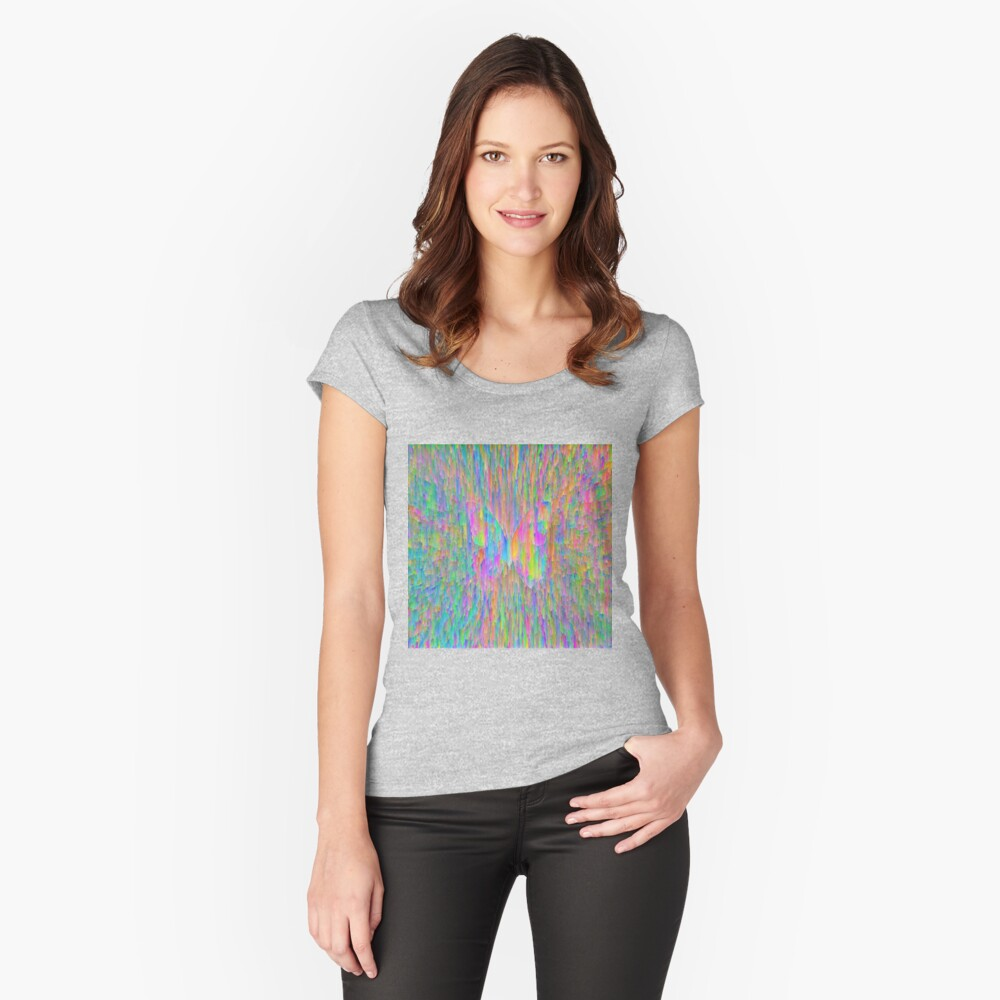 Abstract butterfly Fitted Scoop T-Shirt