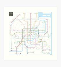 Shanghai metro map  Art Print