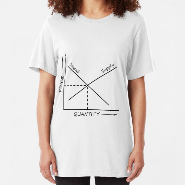 Supply and demand graph Slim Fit T-Shirt