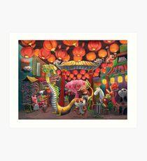 Chinatown Animals Art Print