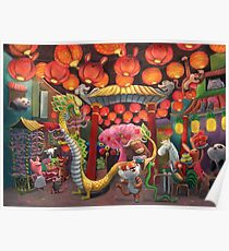 Chinatown Animals Poster