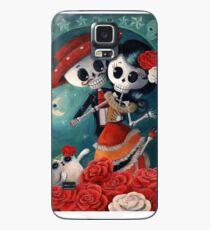 Funda/vinilo para Samsung Galaxy Dia de Los Muertos Pareja de amantes esqueleto
