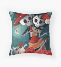 Dia de Los Muertos Couple of Skeleton Lovers Throw Pillow