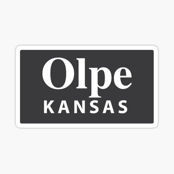 Olpe, Kansas Sticker