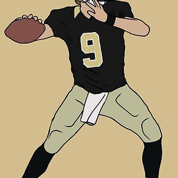 Drew Brees Saints by RatTrapTees