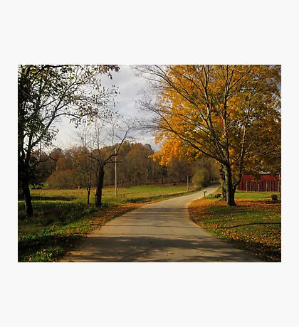 Kentucky Back Road in Fall Photographic Print