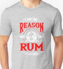Rum Pirate Alcohol Beer Party Captain Drink Gift Unisex T-Shirt