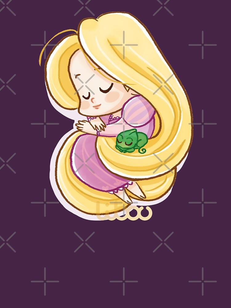 «Blonde princesse chibi» par Libou