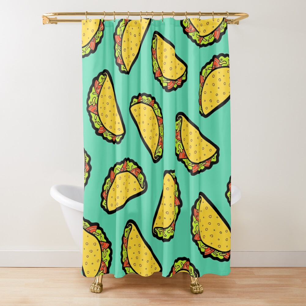 It's Taco Time! Shower Curtain