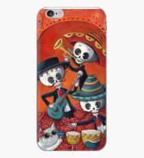 Dia de Los Muertos Skeleton Musicans iPhone Case