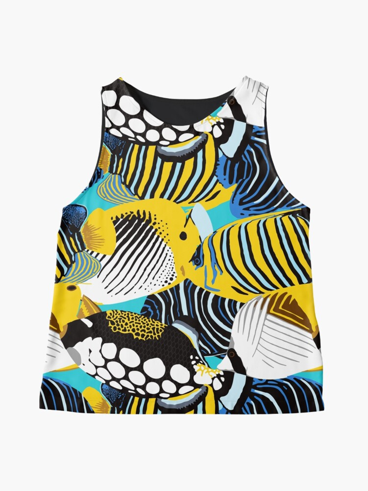 Alternate view of Tropical Fish animal print Sleeveless Top