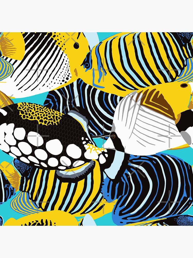 Tropical Fish animal print by nadyanadya