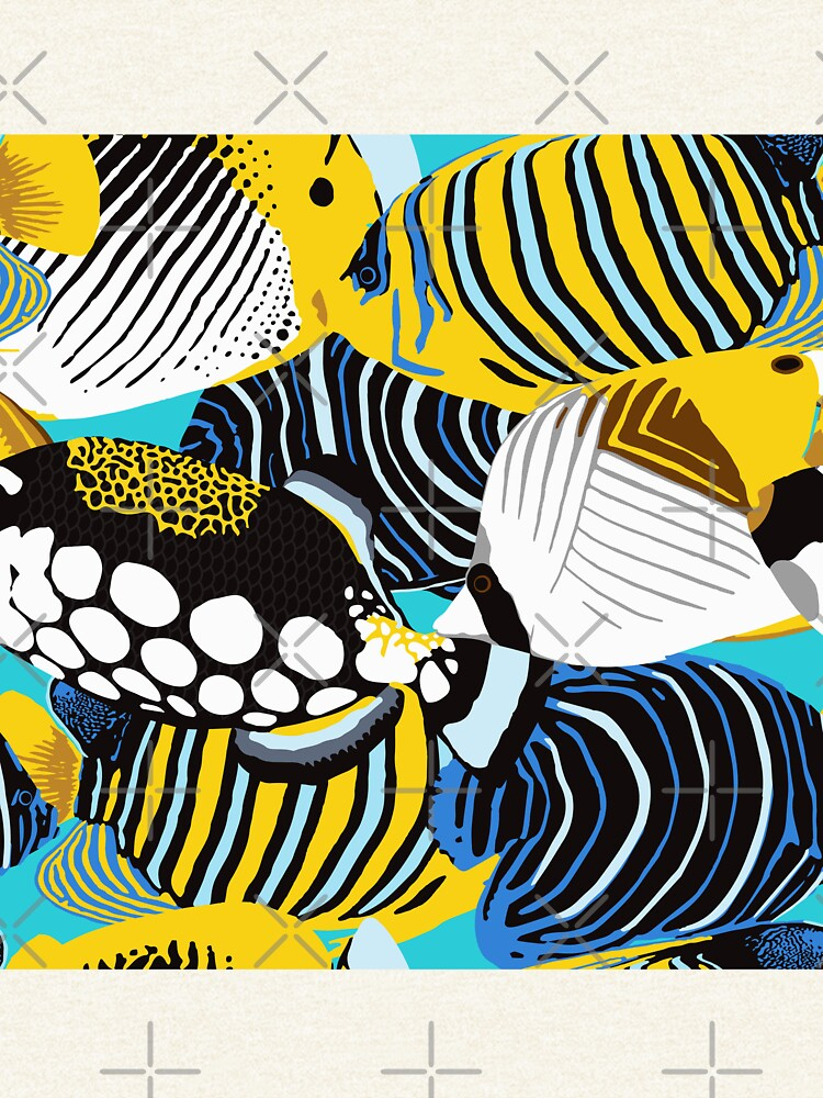 Tropical Fish animal print by nadyanadya