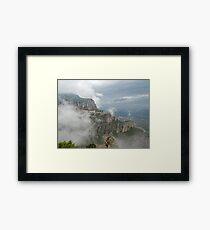 Montserrat in mist Framed Print