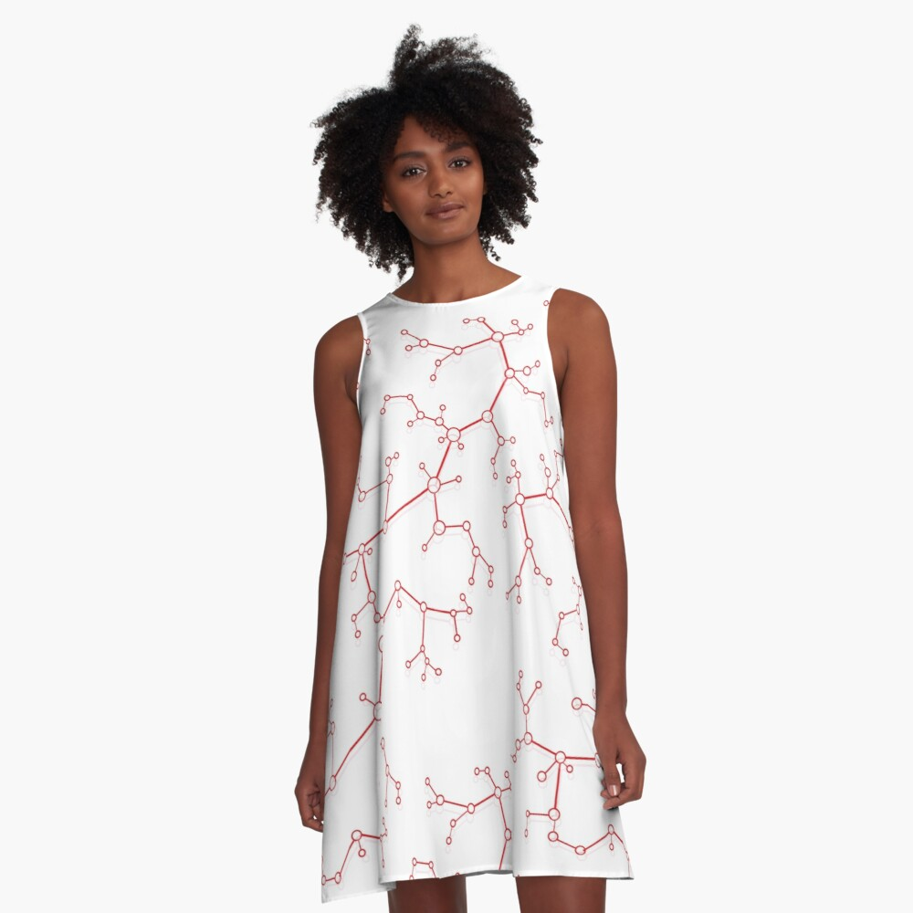Structure of molecules and communication. A-Line Dress Front