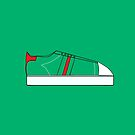 Low Top Green/Red by bunhuggerdesign