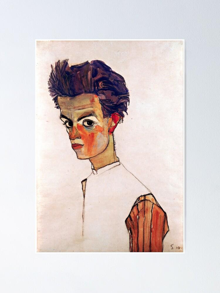 Zwei sich umarmende Frauen Wall Art Poster Print Egon Schiele