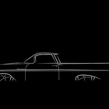 1959 Chevy El Camino - profile stencil, white by mal-photography