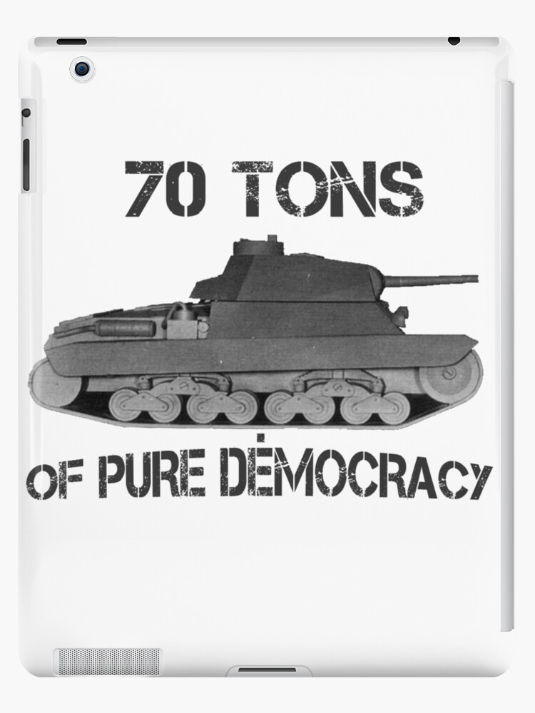70 Tones Of Pure Democracy Politics Satire Army War Ipad Case