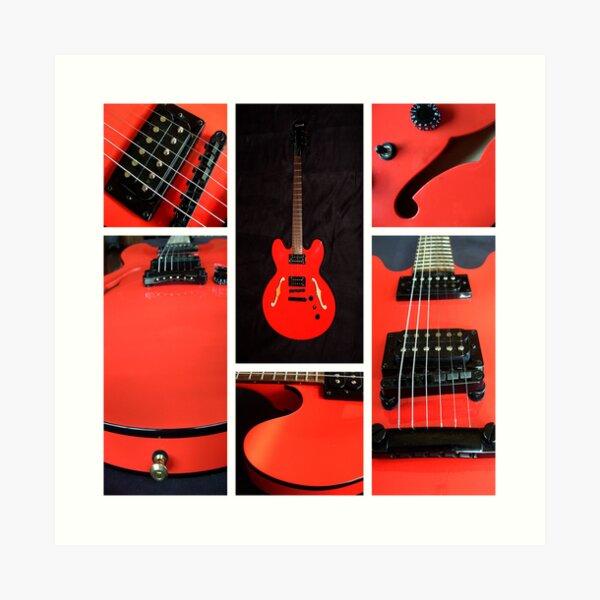 The Orange Guitar Art Print