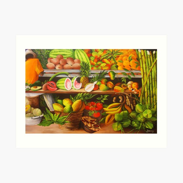 Manuel and His Fruit Stand Art Print