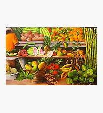 Manuel and His Fruit Stand Photographic Print