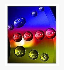 Droplets - 6 (Blue, Red and Yellow) Photographic Print