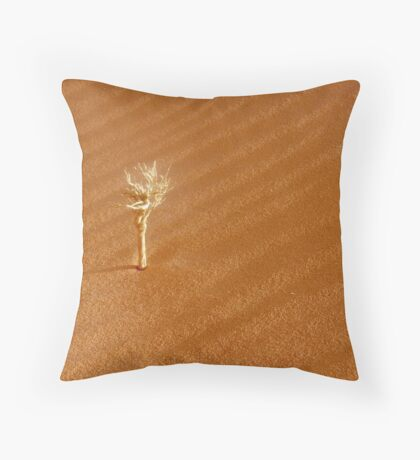 bone-white dead Throw Pillow