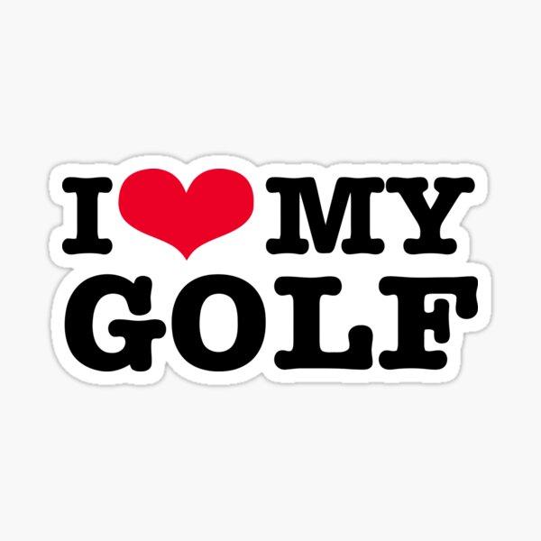 Amo mi golf Pegatina