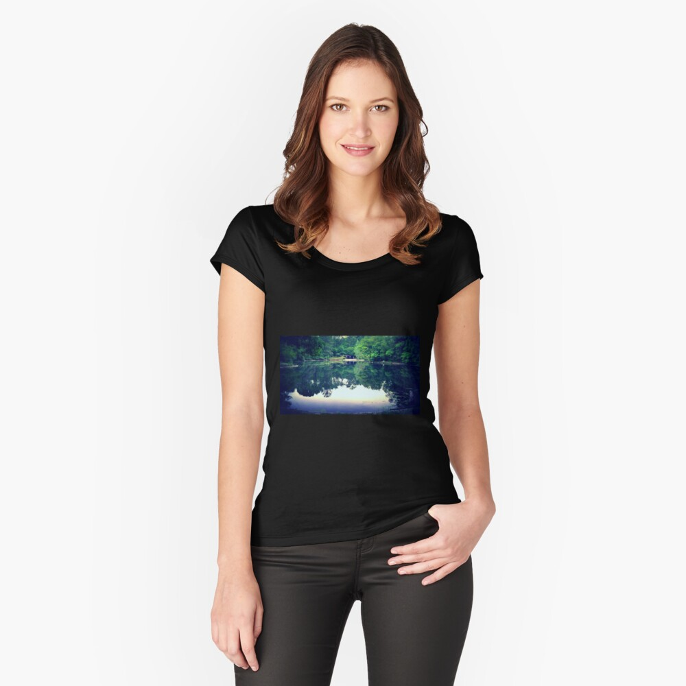 Light Reflects  Women's Fitted Scoop T-Shirt Front