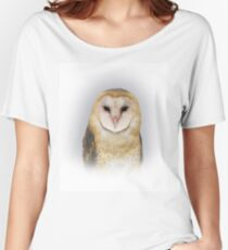 Portrait of a Sweet Barn Owl Named Sara Women's Relaxed Fit T-Shirt