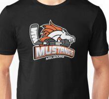 Melbourne Mustangs Classic White Logo Unisex T-Shirt