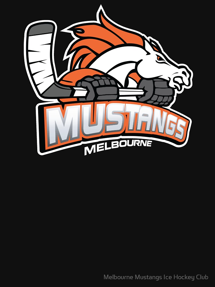 Melbourne Mustangs Classic White Logo by mustangs