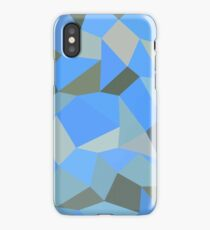 Bondi Blue Abstract Low Polygon Background iPhone Case/Skin